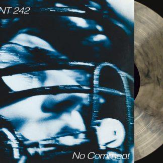 Front 242 - No Comment / Politics Of Pressure 2LP (Clear & black mixed / silver + CD)